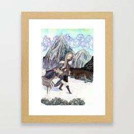 Goddess of Winter and Hunt Framed Art Print