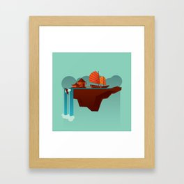 Floating Island (Water House) Framed Art Print