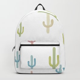 Cute Colorful Cactus Pattern Backpack