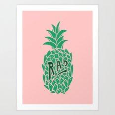 Rad Pineapple Art Print