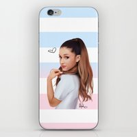 ariana grande iPhone & iPod Skins featuring Ariana  by kelsey cooke art