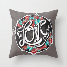 Love -Ribbon-Word Throw Pillow