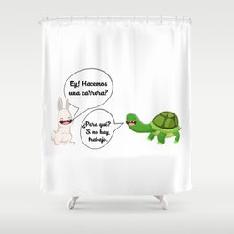 graphic humor 1 Shower Curtain