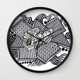 Dual worlds Wall Clock