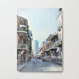 French Quarter City Street View Metal Print