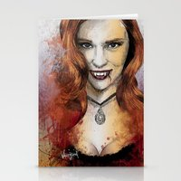 true blood Stationery Cards featuring Oh My Jessica - True Blood by Fresh Doodle - JP Valderrama