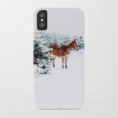 Winter horse iPhone X Slim Case
