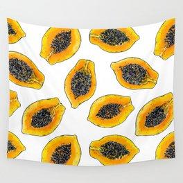 Papaya slices Wall Tapestry