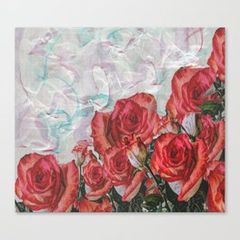 Adoration Of Roses Canvas Print