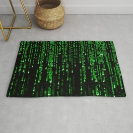 Matrix Binary Code Rug
