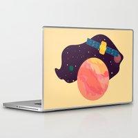 katamari Laptop & iPad Skins featuring Satellite by badOdds