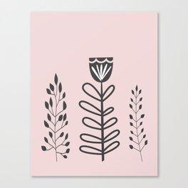 Garden Line Art Canvas Print