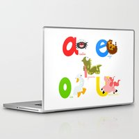 spanish Laptop & iPad Skins featuring Vowels (spanish) by Alapapaju
