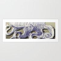 Octopus Abstract Art Print