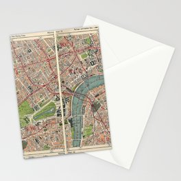 Bacon's Pocket Atlas of London (1921) - 21 Marylebone, Mayfair, Belgravia, Westminster, Buckingham Stationery Cards