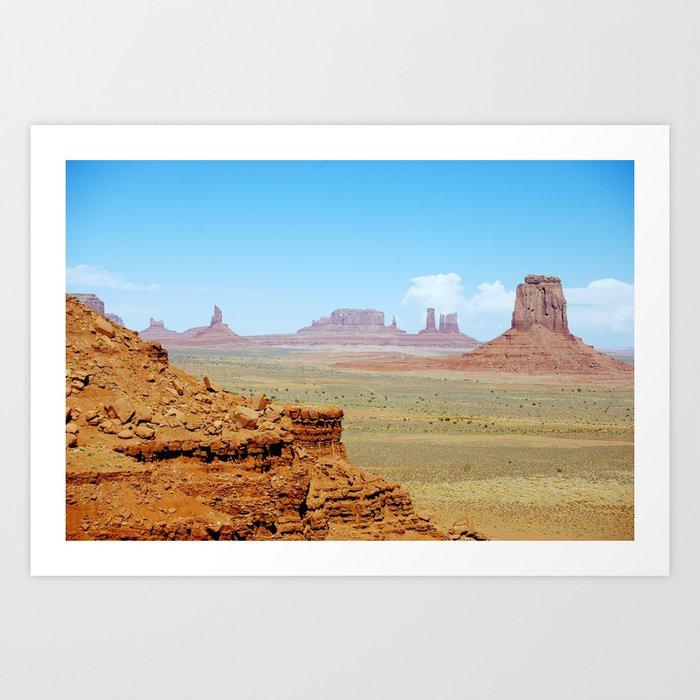 Monument Valley Arizona Utah Usa Art Print By Artpics Society6