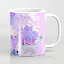 Electric Violet Floral Coffee Mug