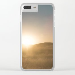California Summer Sunset Clear iPhone Case
