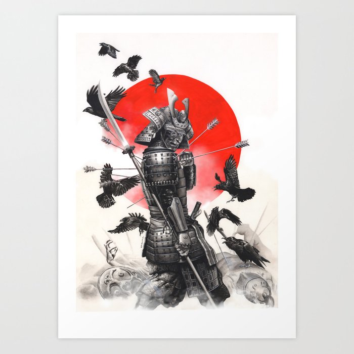 on sale 0e165 76f64 Unstoppable Samurai Warrior Art Print