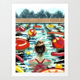 Pooling Art Print
