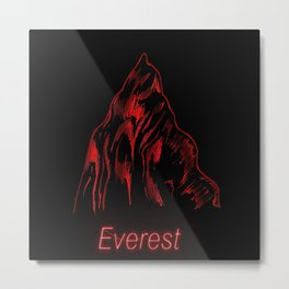 THE RED PROJECT - Everest . Metal Print