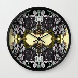 Lace Wing Wall Clock