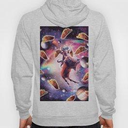 Thug Space Cat On Goat Unicorn - Taco Hoody