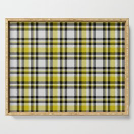Yellow White and Black Plaid Serving Tray
