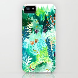 Twice Last Wednesday: Abstract Jungle Botanical Painting iPhone Case