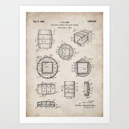 Whisky Barrel Patent - Whisky Art - Antique Art Print