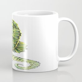 Sea Horse Green Yellow Sea Life Ocean Underwater Creature Coffee Mug