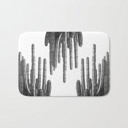Black and White Cactus Bath Mat
