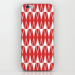 Mid Century Modern Diamond Pattern Red 234 iPhone Skin