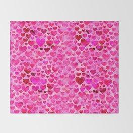 Heart Pattern 07 Throw Blanket