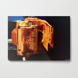 Knuckle Coupler Metal Print