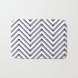 Marine Chevron Zigag pattern - dark blue on white on #Society6 Bath Mat