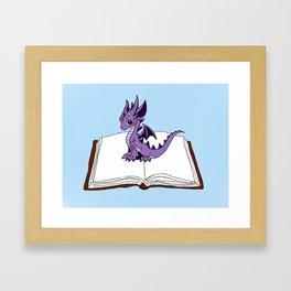 Book Dragon Mark 2 Framed Art Print