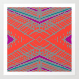 Spring collection - orange&orchid - abstract Art Print