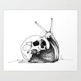 This Skull Is My Home Art Print