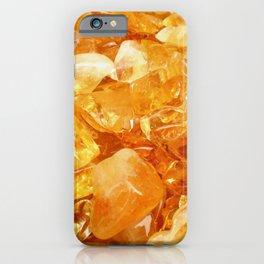 """Amber Quartz Solar Orange Crystal Opal Gem Stone"" iPhone Case"