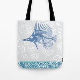 Fish ghost tall Tote Bag
