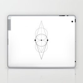 Mixed geometry white Laptop & iPad Skin