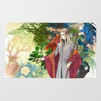 thranduil Area & Throw Rugs featuring Thranduil & Legolas by kagalin