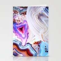 spring Stationery Cards featuring Agate, a vivid Metamorphic rock on Fire by Elena Kulikova