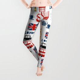 London travel pattern cute england print for nursery kids room boys or girls decor Leggings