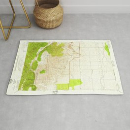 Manzana, CA from 1950 Vintage Map - High Quality Rug