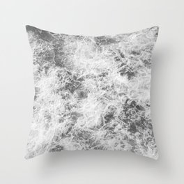 Black and white abstract pattern. waves Throw Pillow