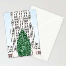 Special Edition Holiday Print: Rockefeller Center by the Downtown Doodler Stationery Cards