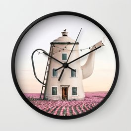 Teapot House Wall Clock