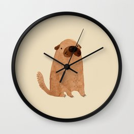 Brown Doggy Wall Clock